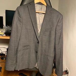 Zara men's suit jacket blazer grey size 40